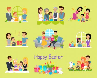 Happy Easter Family Set Design