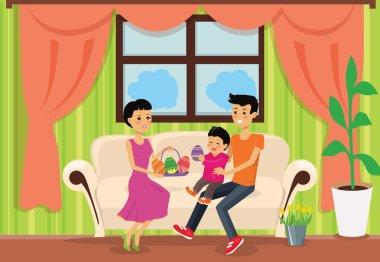 Happy Easter Family Set Design