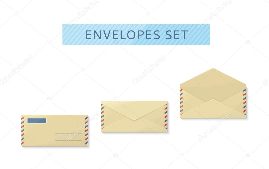 Envelope definir o design de abertura e fechamento plana vetores envelope set open and close design flat letter mail template yellow envelope invitation envelope open or close envelope vector illustration vetor de stopboris Choice Image