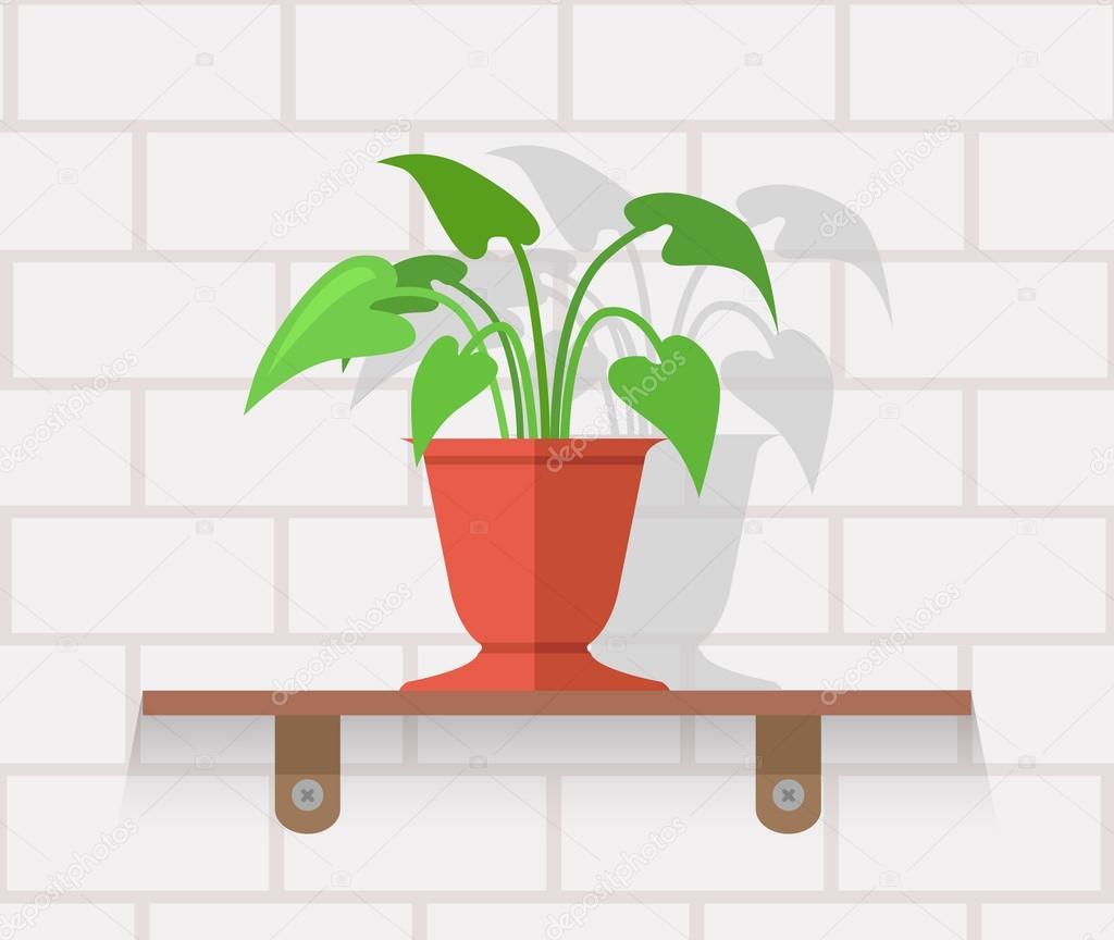 plante d 39 int rieur design concept plat image vectorielle robuart 105909092. Black Bedroom Furniture Sets. Home Design Ideas