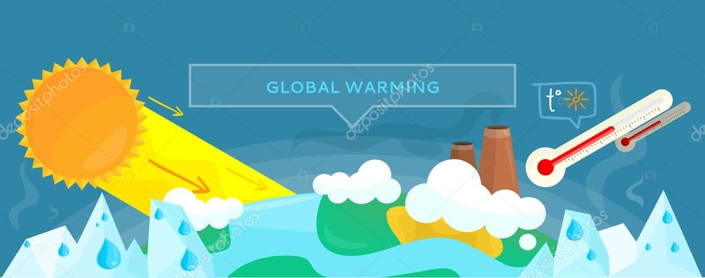 Ecology Banner Concept Global Warming