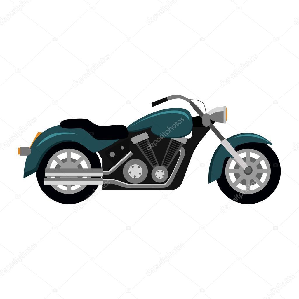Cool Motorrad Isolated On White Background Stockvektor Robuart