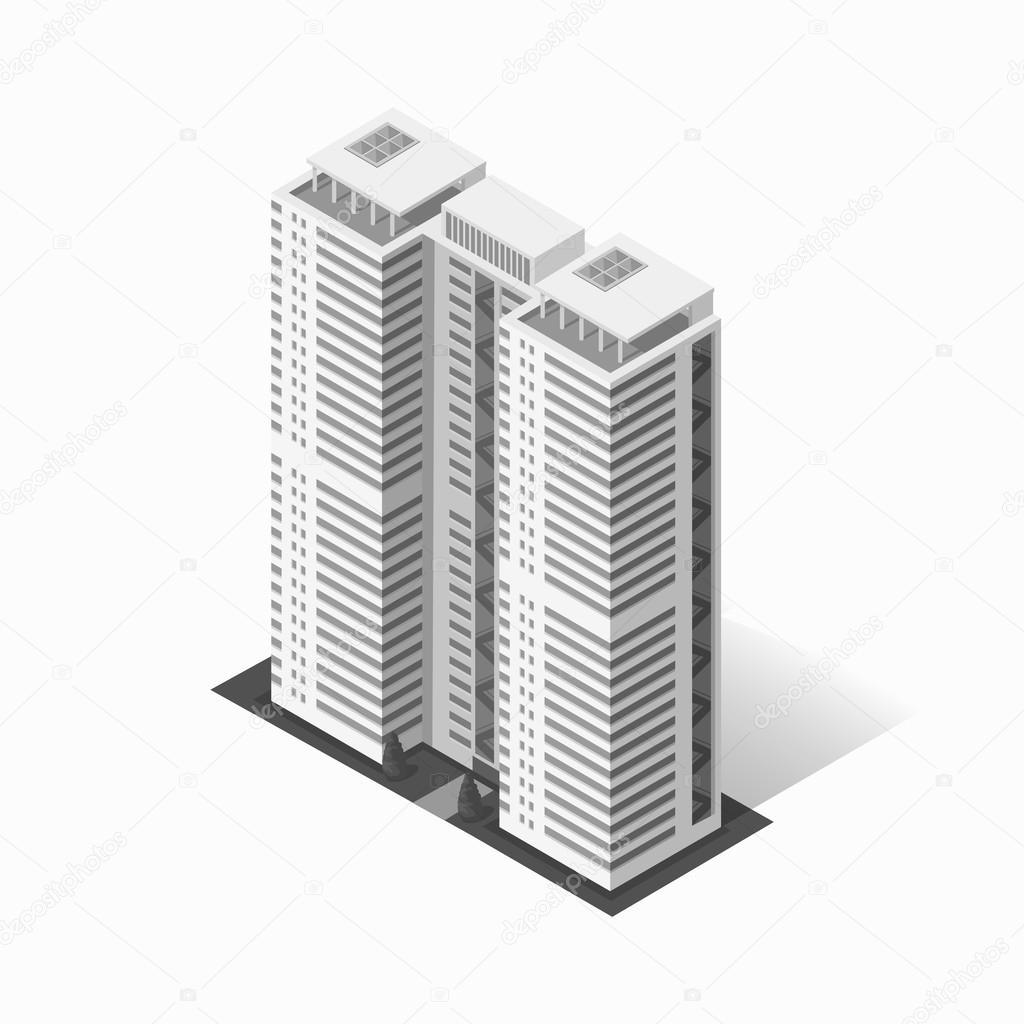 Icône De La Construction De Logements De Gratte-ciels