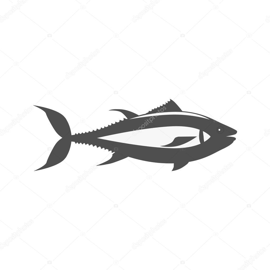 Fisch-Icon-Design flach isoliert — Stockvektor © robuart #114065902