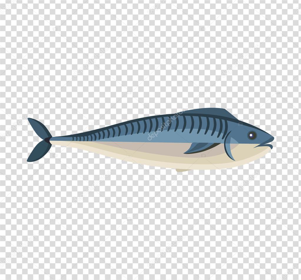 Fisch-Icon-Design flach isoliert — Stockvektor © robuart #114071306