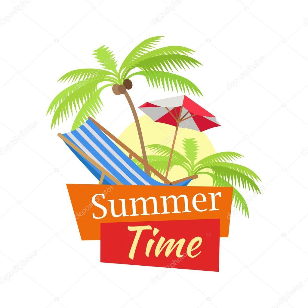 Summer concept vector illustration.