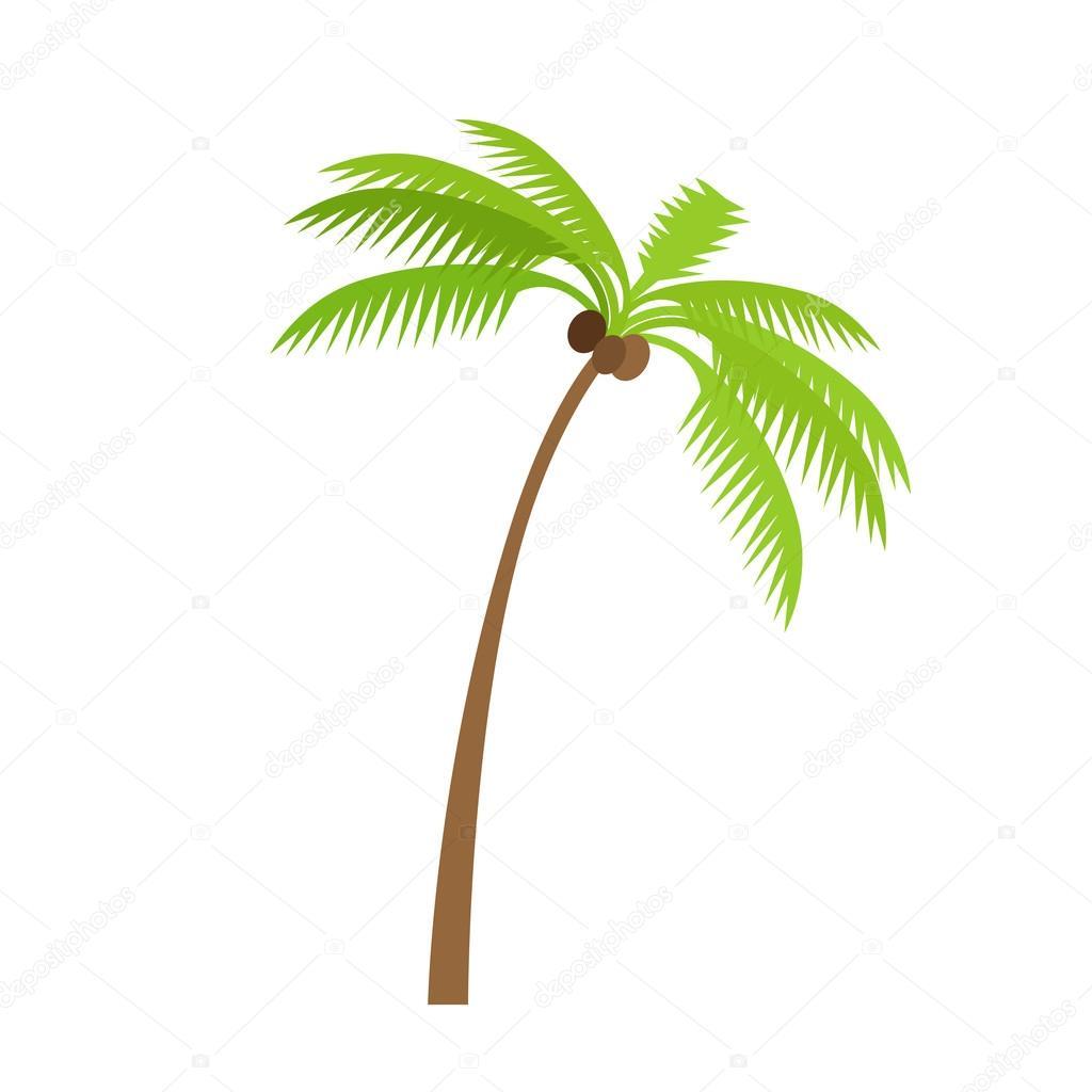 Palme mit Kokosnuss — Stockvektor © robuart #115396750