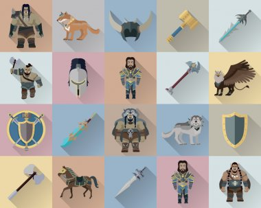 Game Set of Fantasy Warriors
