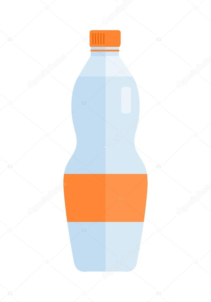 glass or plastic bottle with water or beverage ストックベクター
