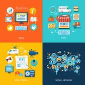 Fényképek szociális média és a hálózati kapcsolat fogalma