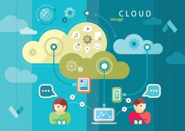 Cloud computing internet concept