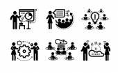 Obchodní prezentace týmové pojetí ikony