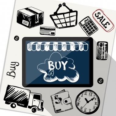 Online shopping, e-commerce, delivery, payments