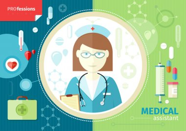 Profession concept with medical assistant