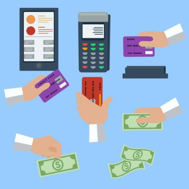 Cash and cashless payment methods