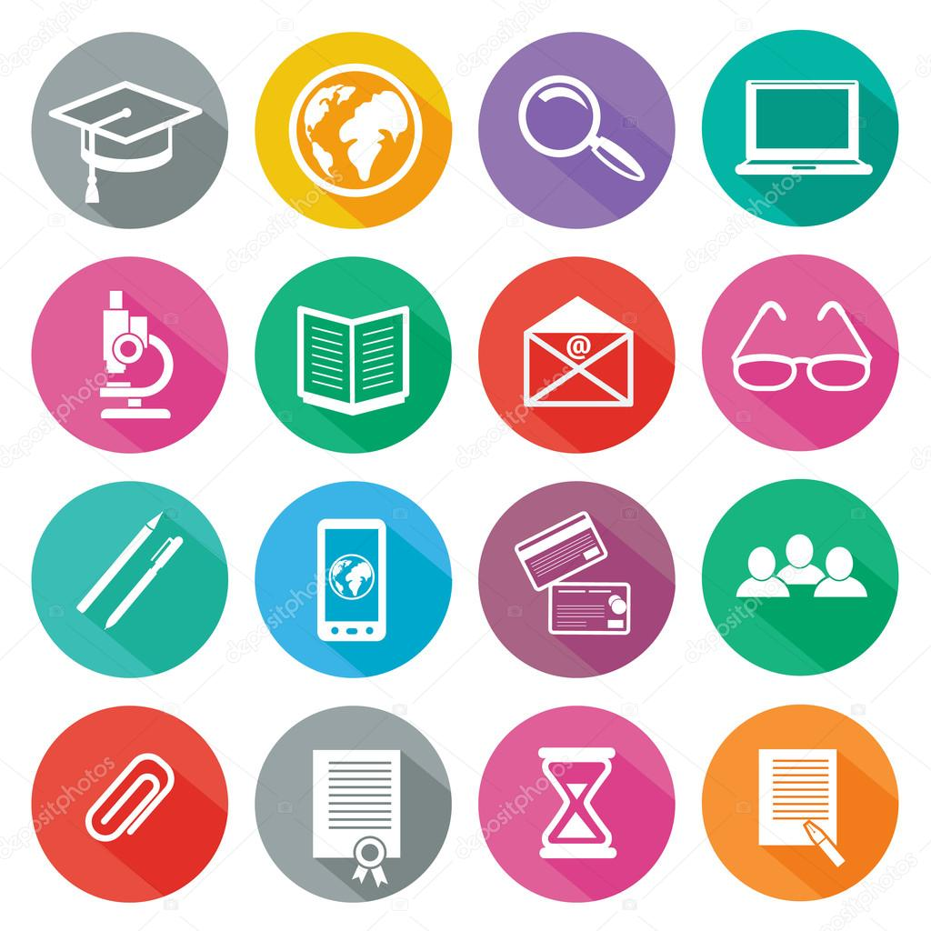 Icon set for professional training and elearning — Stock ...