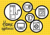 Fényképek Háztartási készülék otthoni és konyha ikon készlet