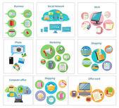 Obchodní bannery s ikon položek