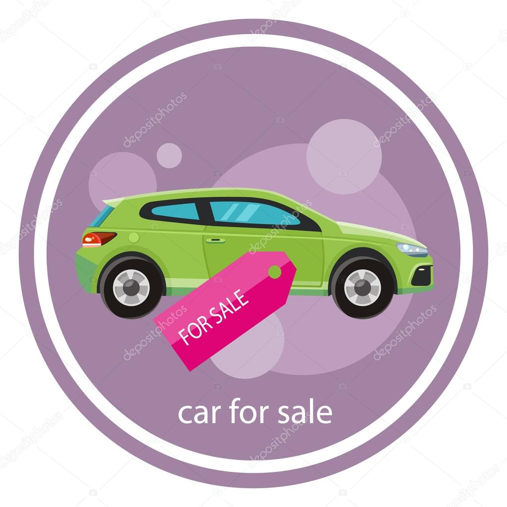 car sale design template with modern car and tag concept in flat style cartoon design on stylish background vector by robuart