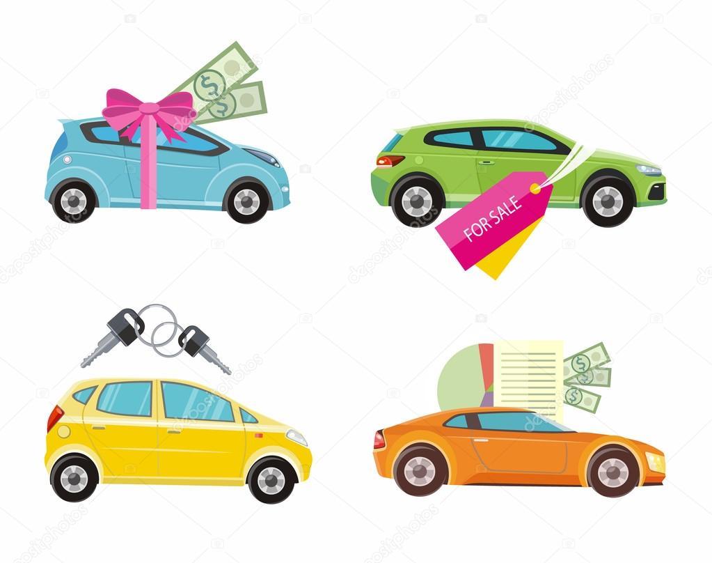 Compra de coche, de alquiler y préstamo — Archivo Imágenes ...