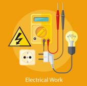 Elektrikářské práce koncept