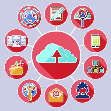 Cloud computing services and data sharing concept