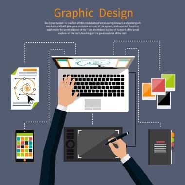 Graphic design and designer tools concept
