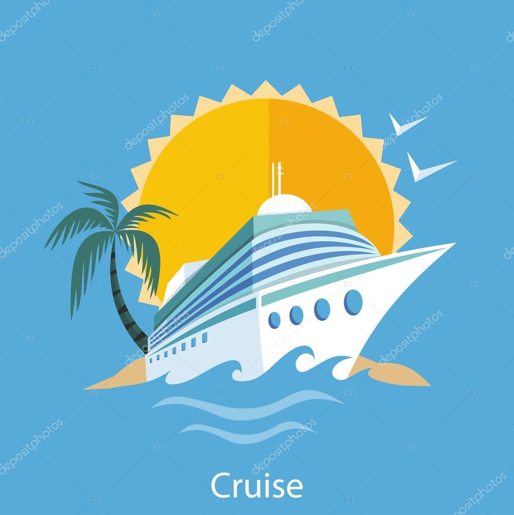 Cruise Ship. Water Tourism.