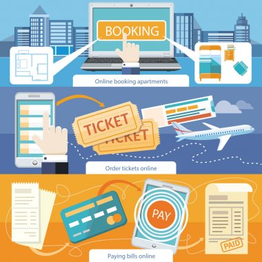 Pay Bills, Online Booking Apartments, Order Ticket