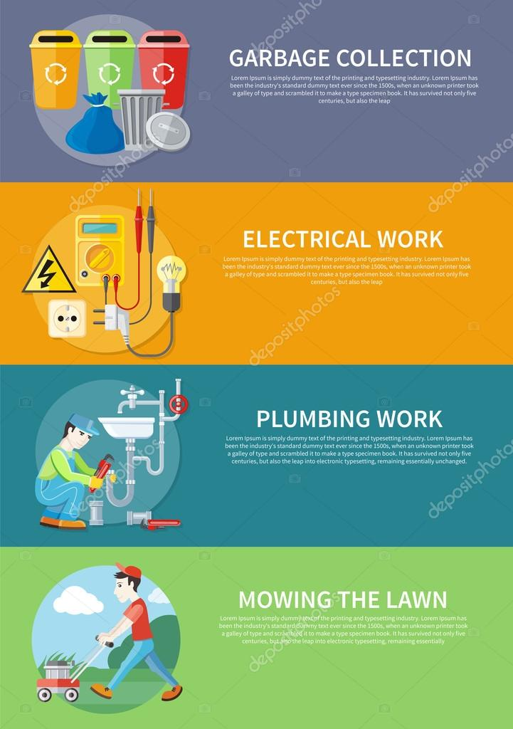 Electrical, Plumbing Work and Mowing Lawn
