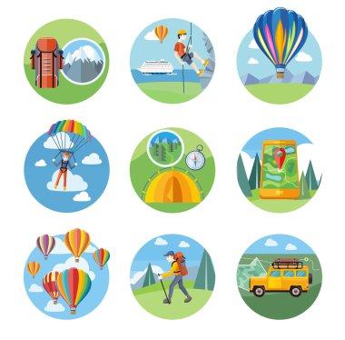 Hike, Expedition, Tourism, Parachuting, Ballooning