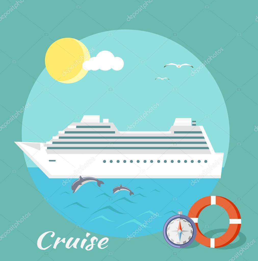 Cruise Ship. Water Tourism