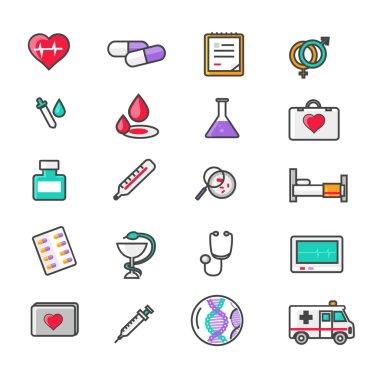 Set of Outline Medicine Icons