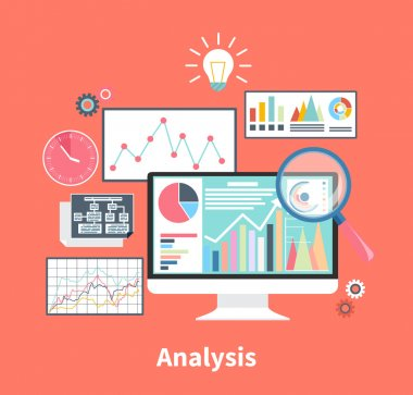 Analysis Stock Exchange Rates on Monitors