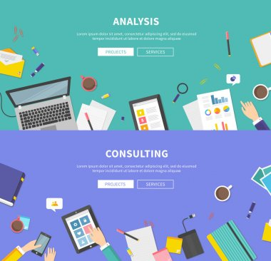Concept of Consulting, Service, Analysis