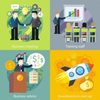 Business Concept Investment Advice Meetings