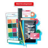 Fotografie koncepce rozvoje webu