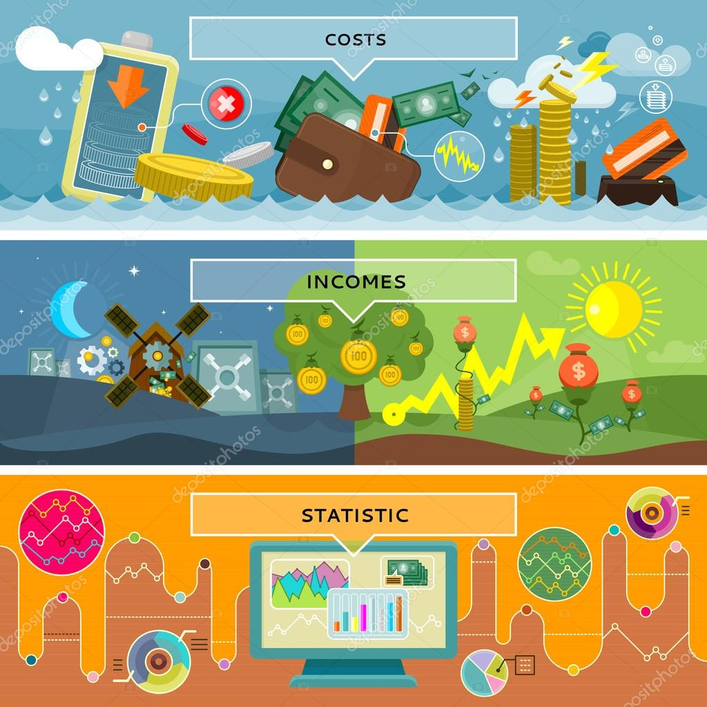 Finance Statistic Costs and Incomes