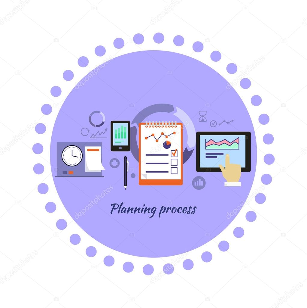 Planning process icon flat design vetor de stock robuart 88035030 planning process icon flat design vetor de stock ccuart Choice Image