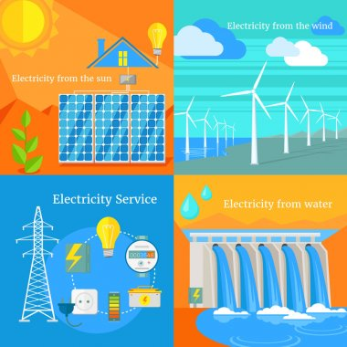 Solar and Hydro Electricity Windy
