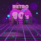 Fotografie Retro 80er Jahre Disco Design Neon