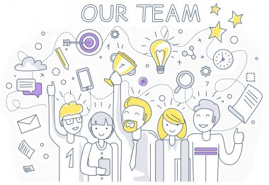 Our Success Team Linear Design