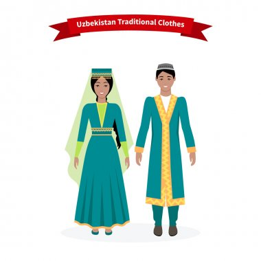 Uzbekistan Traditional Clothes People