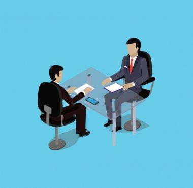 Isometric Hiring Recruiting Interview