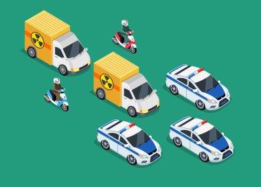 Police Motorcade Car Important Toxic Load