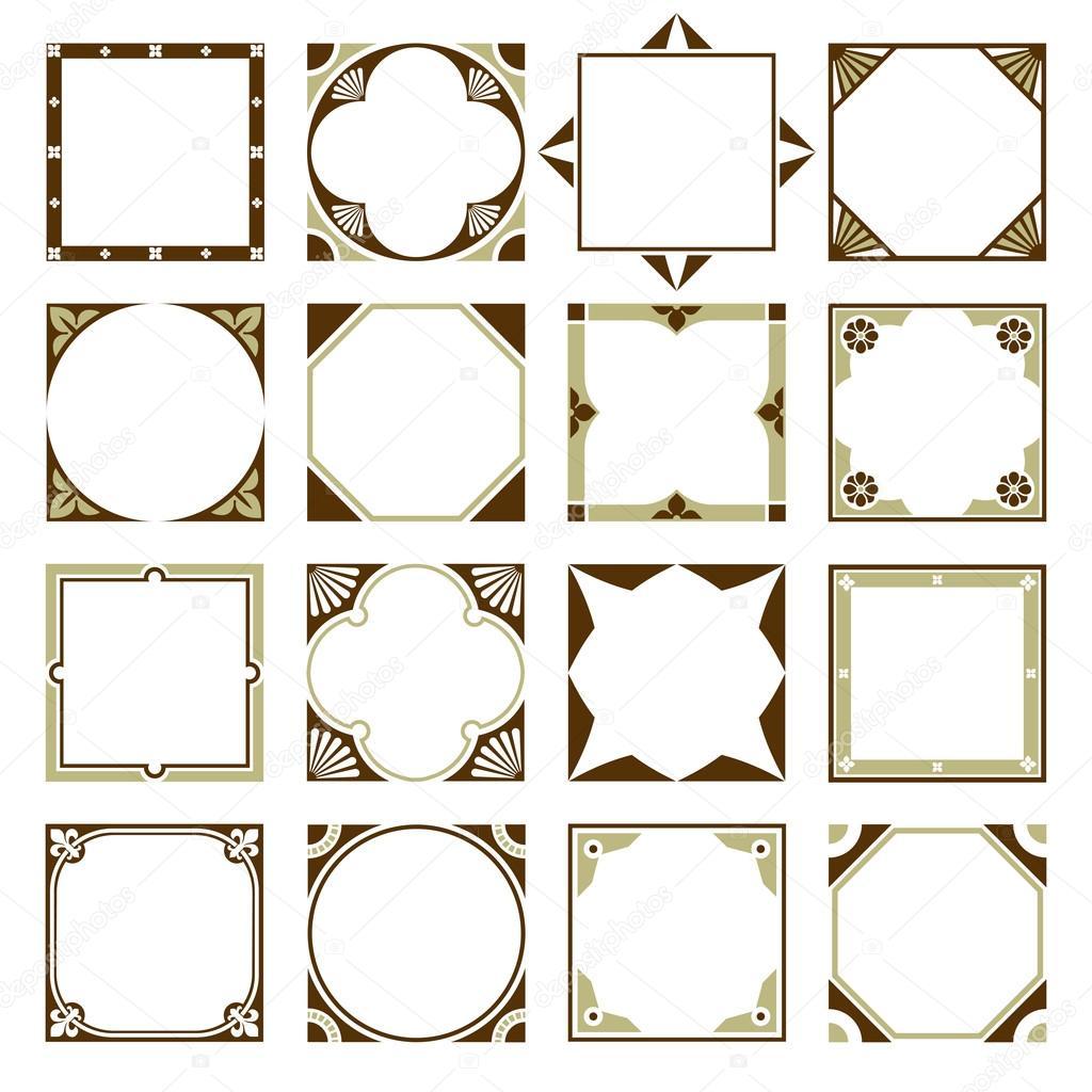 Auflistung der quadratische Schmuckrahmen Rahmen mit klaren ...