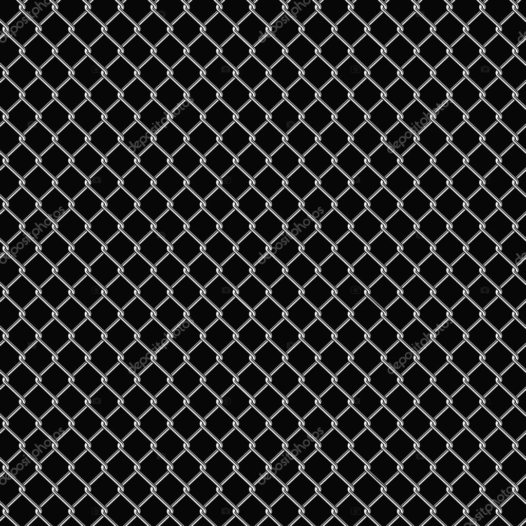 Seamless detailed chain link fence pattern texture — Stock Vector ...