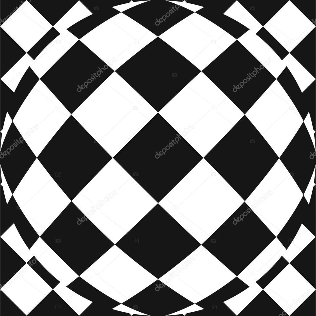 Vector: lente ojo de pez   Vector patrón de cuadros con efecto de ...
