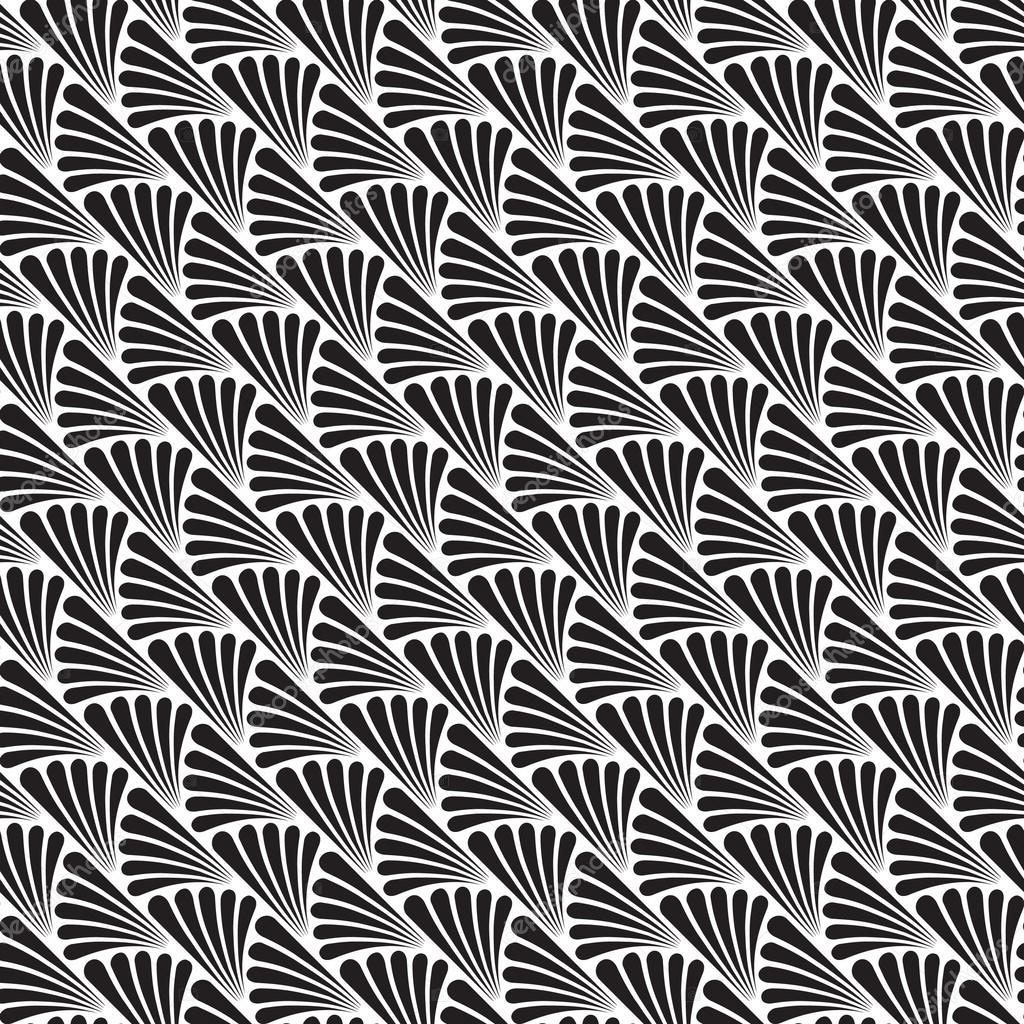 Seamless Black And White Art Deco Background Pattern Texture