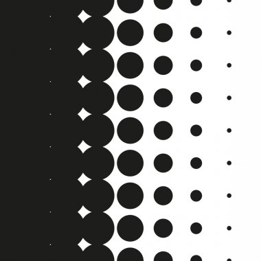 Coarse halftone dots pattern gradient in vector format